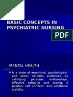 Basic Concepts in Psychiatric Nursing
