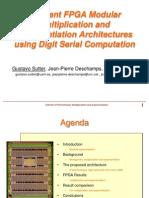 Exponentiation1Efficient FPGA Modular Multiplication and Exponentiation Architectures Using Digit Serial Computation