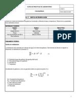 Guía Cinética de Rehidratación