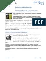 Nota Tecnica Nro. 1 - Aplicaciones Del Ultrasonido