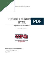 Historia Del Internet y HMTL