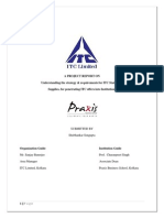 Understanding the Strategy & Requirements for ITC Stationery -ITC Project