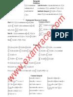 Mathematics Integrals