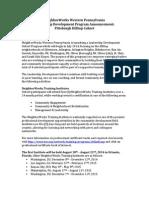 Application for NWWPA Leadership Development Program