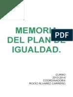 Memoria Plan de Igualdad13-14