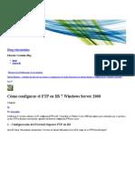 Cómo Configurar El FTP en IIS 7 Windows Server 2008