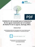 Instalación Del Humedal Para El Tratamiento de Las Aguas Residuales de La Localidad de Santa Fe de La Laguna