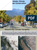 Watersheds, Global Warming and Water Conservation