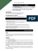 Pasa 5266 Camera Course Outline