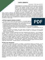 Carta Abierta Mayo 2014