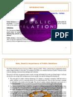 Public Relations in Media