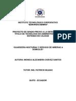 CREACION DE LA EMPRESA GUARDERIAS NOCTURNAS Y SERVICIO DE NIÑERAS A DOMICILIO