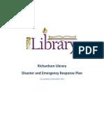 disaster plan excerpt