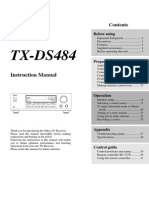 TX-ds484 Manual e