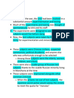 Unit 731 Presentation Script