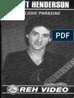 Scott Henderson - Melodic Phrasing
