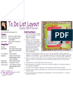 To Do List Layout by Liana Suwandi