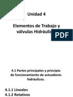 Unidad 4- Elementos de Trabajo y Válvulas Hidraulicas
