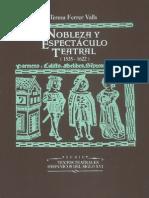 Nobleza y Espectaculo Teatral 1535 1622 Estudio y Documentos