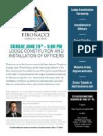 Fibonacci Lodge No.112 Constitution Ceremony Brochure