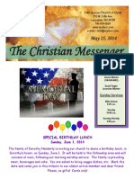 May 25 Newsletter