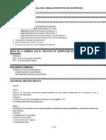 Metodologia Para Formular Proyectos de Exportacion