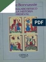 Bonnassie P Vocabulario Basico de La Historia Medieval Critica 1988 PDF