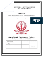 Unix Programming and ComADpiler Design