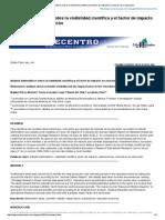 Análisis Bibliométrico Sobre La Visibilidad Científica y El Factor de Impacto en Ciencias de La Educación