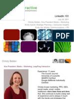 linkedin 101 Presentation