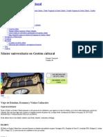 Máster Universitario en Gestión Cultural _ Universitat de Barcelona Viagens