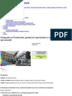 Postgrado en Producción, Gestión de Espectáculos y Eventos Culturales (Presencial) _ Universitat de Barcelona