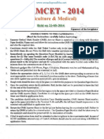 Eamcet 2014 Medical Question Paper Andhracolleges