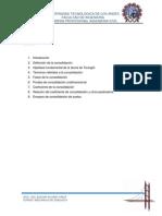 Informe Consolidacion de Suelos