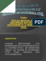 Rocas Usadas en La Ing. Civil