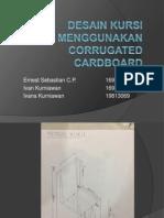 Desain Kursi Menggunakan Corrugated Cardboard