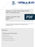 1 Erik Dick - Design of a Small Hydro Kaplan Turbine With a Self Sealing Rotor