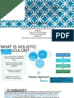 Toward a Holistic Curriculum