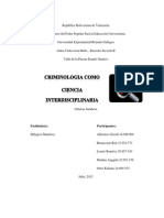 Criminologia Como Ciencia Interdisciplinaria
