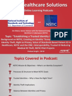 Establishing Trusted Identities in Cyberspace - How NSTIC is Making A Difference