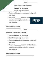 Collective Culture Draft Peer Checklist
