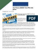 30 Years Ago_ Turbo Pascal, BASIC Turn PCs Into Programming Engines