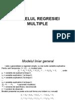 Modelul Regresiei Multiple