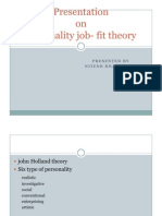 Presentation on Job Fit Theory