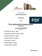 Proust a La Recherche Du Temps Perdu Resume