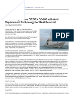 French Navy to Use DITEC's DC-100 With Acid Replacement Technology for Rust Removal
