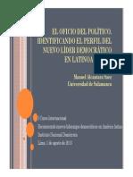 El Oficio Del Político. Manuel Alcantara