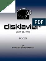 Disklavier Mark III DGC1B Advanced Operation Manual (1 of 2)