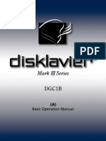 Disklavier Mark III DGC1B Basic Operation Manual