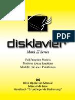 Disklavier Mark III Full-Function Models GP, UP (A)